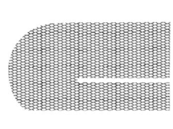 Вид сетчатого импланта при косой паховой грыже.